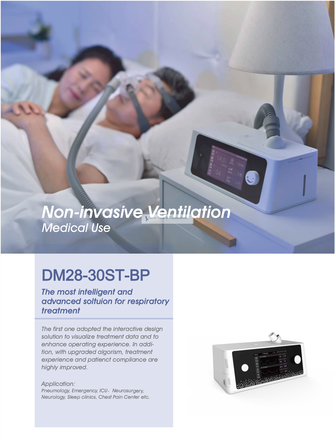 Picture of DM28-30ST-BP Non-invasive Ventilator